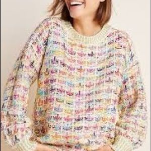 Colourful and cheerful Anthropologie sweater